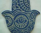 COCA - HAMSA Hand, Good Luck - Ceramic Wall Art