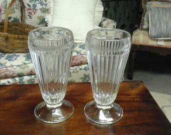 Vintage Set of Milkshake Glasses