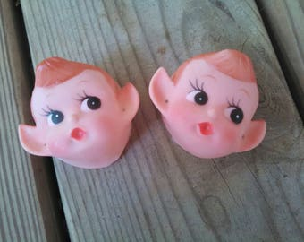 Doll Craftin' pixie head - elf head doll heads doll making parts vintage doll head vintage doll parts elf doll pixie doll vintage elf