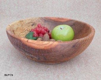 Spacious Pecan Serving Bowl