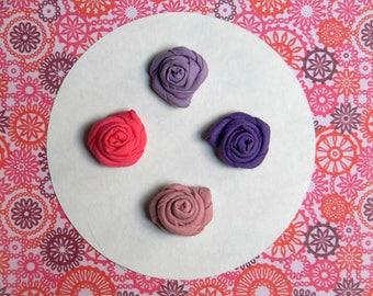 Flower lapel pin - Men lapel flower - Men buttonhole - Men boutonniere - Pink lapel pin - Purple boutonniere - Made in Italy