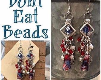 Red, White, & Blue Earrings #17june764