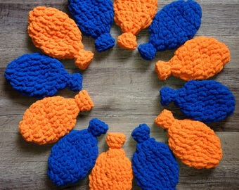 6 Eco-Friendly Orange and Blue Reusable Latex Free Water Balloons