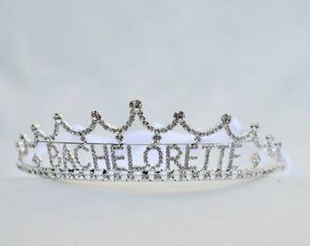 Bachelorette Rhinestone Tiara / Bachelorette Party  Tiara / Bachelorette Tiara / Bridal Shower Tiara