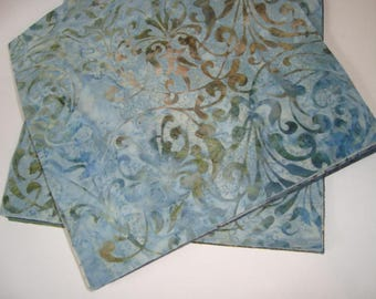 Blue Green Batik Layer Cake   YES!! Combined economical shipping