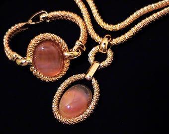 Vintage 1970s HENKEL & GROSSE Germany Runway Necklace Bracelet Set