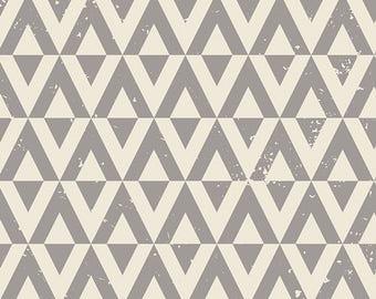 Grey, Cream, Triangles, Rustic, Diamonds, CAPSULES, Le, Vintage, Chic, Cotton, Art,Gallery, Fabrics, Baby, Boy, Girl, Unisex, In Custom Cuts