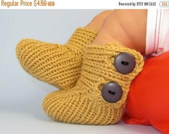 50% OFF SALE madmonkeyknits -Baby All Rib Button Booties (Boots) knitting pattern- MADMONKEYKNITS - Instant Digital File pdf download knitti