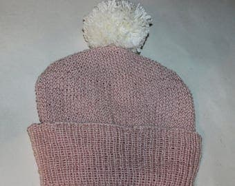 40% OFF SALE 4 Ply Unisex Moss Stitch Bobble Beanie CIRCULAR knitting pattern by madmonkeyknits - instant digital file pdf download knitting