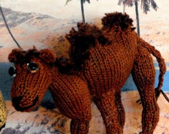 40% OFF SALE Instant Digital File pdf download knitting pattern - Cameron Camel toy animal pdf download knitting pattern.