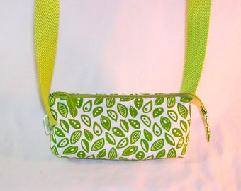 Green Leaves Crossbody Market Pouch