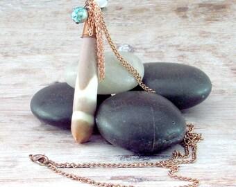 Tribal Long Necklace - Womens Long Boho Necklace - Long Boho Pendant Necklace - Long Bohemian Pendant Necklace - Womens Long Boho Pendant