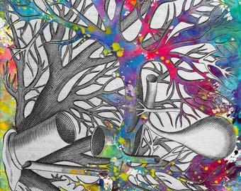 RAINFOREST art nature art poster jungle animals tarzan legende art illustration
