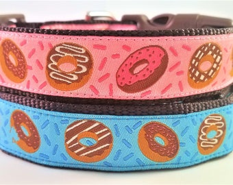 Donuts - Dog Collar / Handmade / Pet Accessories / Adjustable / Nom Nom Nom / Large Dog Collar / Sweets / Pet Lover / Gift Idea