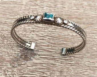 Silver Turquoise Cuff Bracelet Donovan Cadman Navajo Cuff Bracelet Native American Bracelet