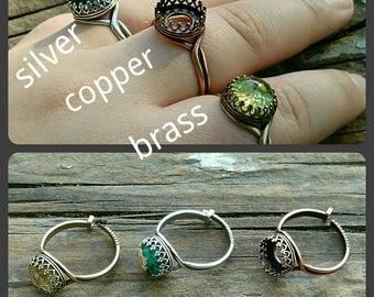 Handmade custom bezel rings!