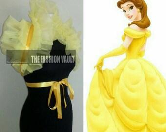 Beauty and the beast Belle Dance costume collar bolero shrug wrap Cosplay Manga Burlesque Ringmaster