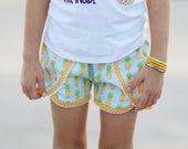 SALE Girls shorts, pineapple shorts, coachella shorts, girls shorts, pineapples, girls pineapple outfit, toddler shorts, by Melon Monkeys