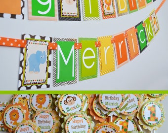 RESERVED for Renee - Jungle Birthday Party Decorations