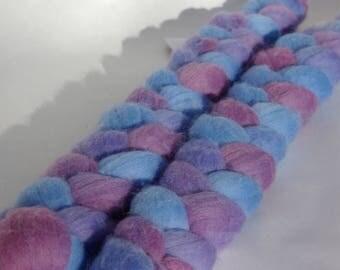 Merino spinning or felting 100% french - 50g - blue/purple