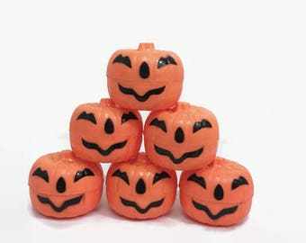 plastic pumpkin containers vintage halloween decorations small jack olanterns for candy - Plastic Pumpkins
