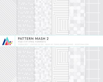 Pattern Mash 2 - 6 patterns for scrapbooking, cards, invitations, printables and more - instant download - CU OK