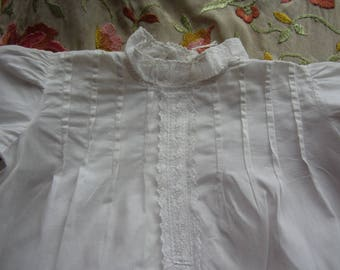 Vintage White Cotton Girl's/Doll's Nightgown. No10