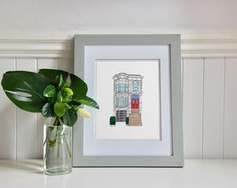 """Full House, House Illustration (8x10"""")"""