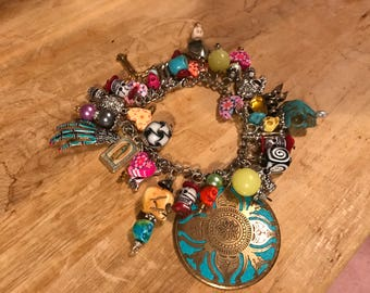 Day of the Dead Chunky Charm Bracelet