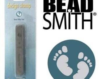 BeadSmith Design Metal Stamp Baby Feet 6mm Metal Stamping