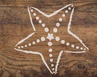 Big Starfish Nautical Wall Art Stencil - Reusable Stencils - DIY Home Décor - Easy DIY