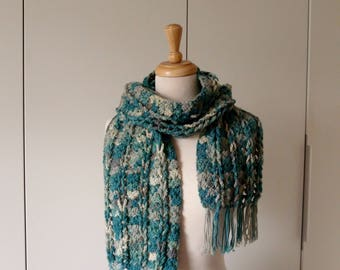 Multicolored Teal Colored Scarf