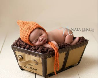 Newborn Hat Girl, Newborn Photo Prop Girl Newborn Pumpkin Hat Newborn Girl Hat Photo Prop Newborn Girl Props Knit Newborn Hat Newborn Bonnet