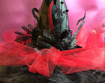 Red glitter witch hat