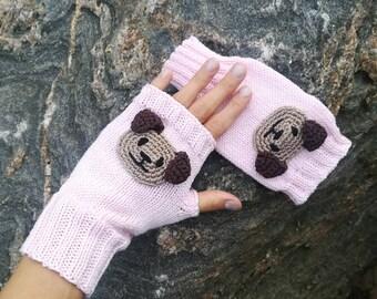 Kids Arm Warmers, Fingerless Gloves, Puppy Gloves, Kids Gloves, Wrist warmers,  Cotton, Dog, Sale