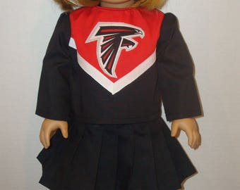 """18 Inch Doll Clothes, Fits 18"""" American Girl Dolls,Atlanta Falcons,cheerleader outfit, ag doll, am girl, football,cheer,READY TO SHIP"""