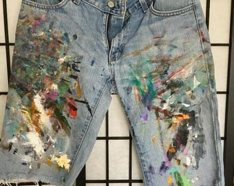 Authentic Painters jeans, size small