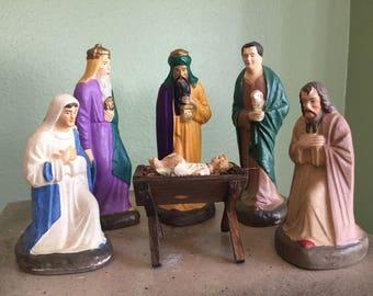 Old German Nativity set