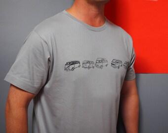 Vintage campervan t shirt, campervan gift, vw campervan gift, fathers day, vw campervan, campervan t shirt, gift for him, dads gift, brother