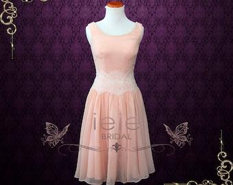 Dirty Dancing Pink Chiffon Dance Dress | Prom Dress | Pink Dress | Short Dress | Short Prom Dress | Pink Prom Dress