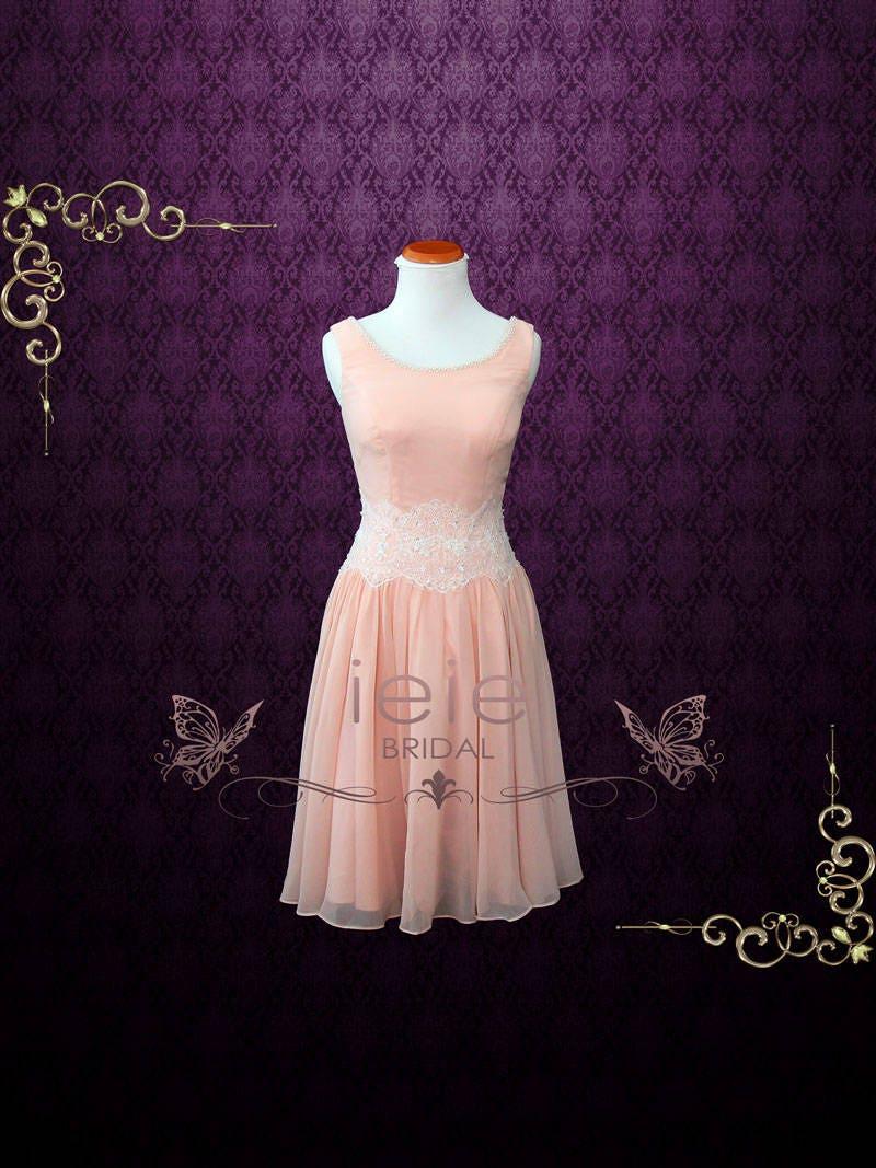 Dirty Dancing Pink Chiffon Dance Dress Prom Dress Pink