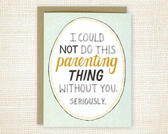 Mother's Day Card for Wife, Father's Day Card for Husband - This Parenting Thing