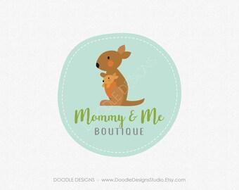 Logo Design, Premade Logo, Kangaroo Mom and Baby Custom Premade Logo, Photography Boutique Business Logo, Business Branding