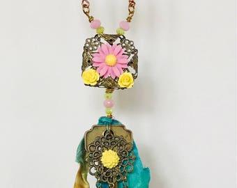 Boho Sari necklace