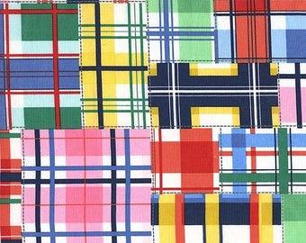 Michael Miller Summer Madras Plaid Fabric - Cotton Fabric - Nautical Print - Childrens Fabric - Summer Fabric - Michael Miller Fabric