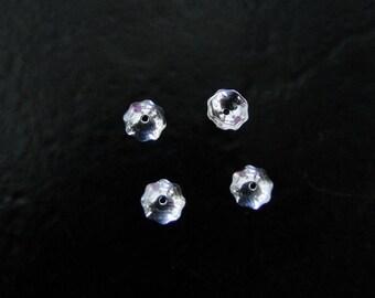 Ten - Sterling Silver Bead Cap 5mm