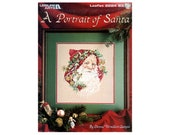 Un Portrait de Santa Cross Stitch brochure, Santa Cross Stitch brochure, Santas, Noël coussins point de croix, Afghan Cross Stitch, Santas