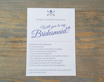 Bridesmaid invite etsy bridesmaid proposal will you be my bridesmaid wedding card proposal bridesmaid invite stopboris