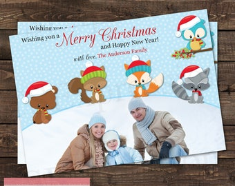 Winter Forest Friends Christmas Card