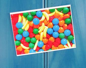 Rainbow lollies  Blank Greeting Card
